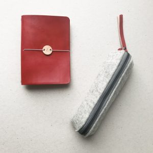 by gitte notebook cover RED
